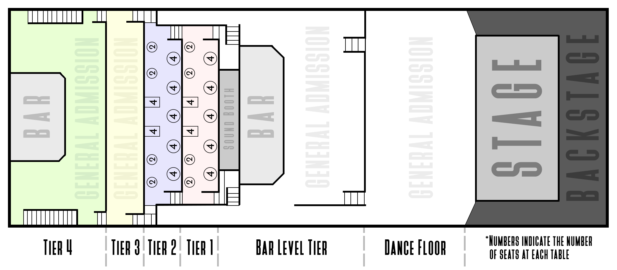 Faqs Bourbon Theatre. For Most Shows With Reserved Seating Prices See The Chart Below Always Refer To Event Details Exact Charge That Show. Lincoln. Lincoln Theatre Seating Diagram At Scoala.co